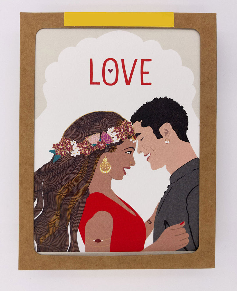 Love Greeting Cards, Red (Pack)