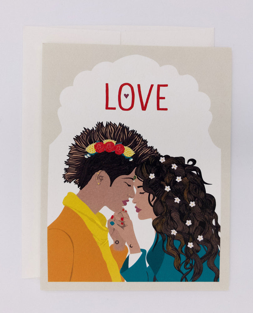Love Greeting Card, Yellow (Single)