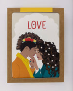 Love Greeting Cards, Yellow (Pack)
