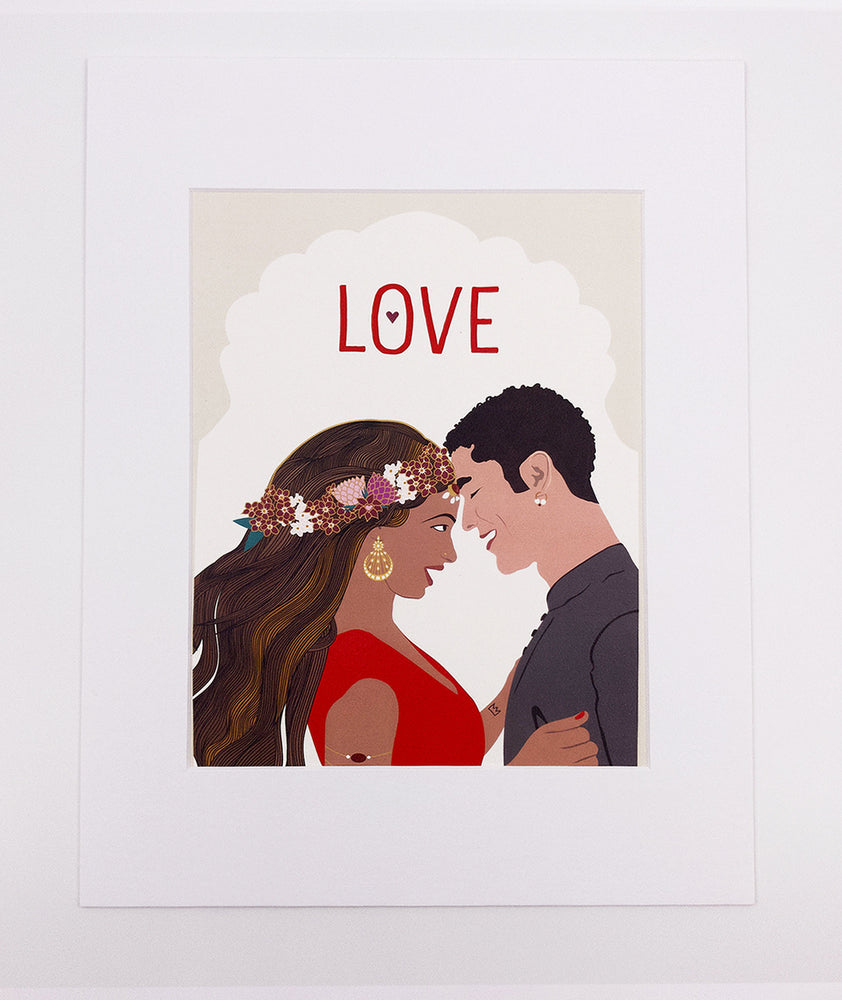 Love Art Print, Red (8x10)