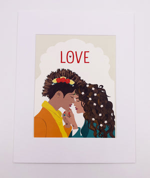 Love Art Print, Yellow (8x10)