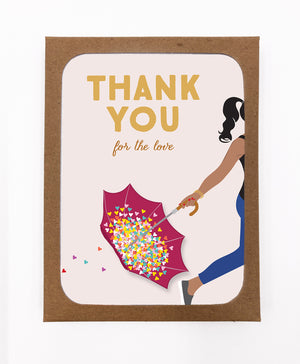Thank you for the Love Greeting Cards (Pack)