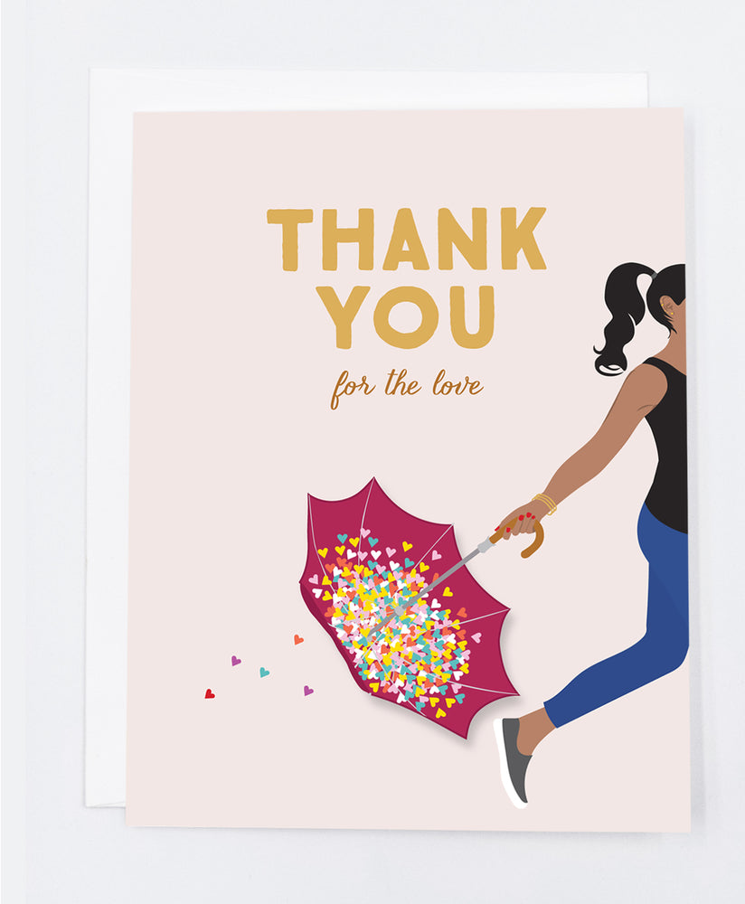 Thank you for the Love Greeting Card (Single)