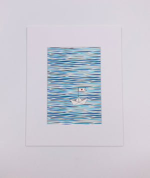 Water Boat Art Print (5x7)