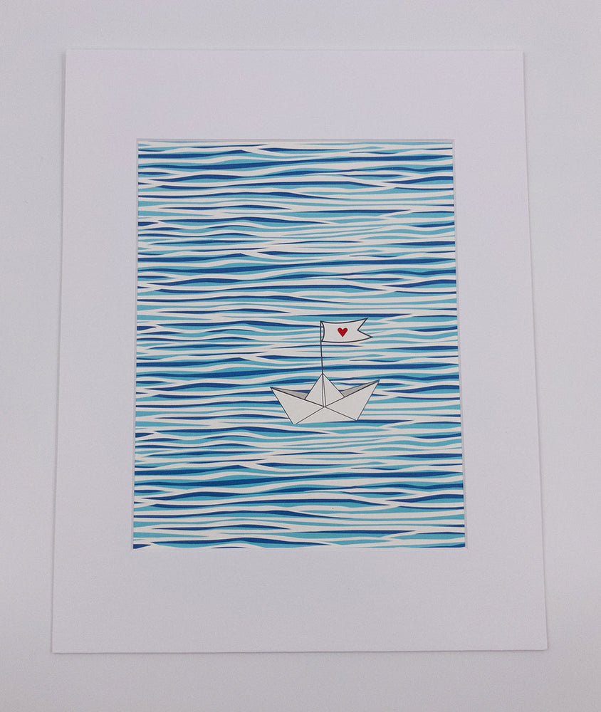 Water Boat Art Print (8x10)
