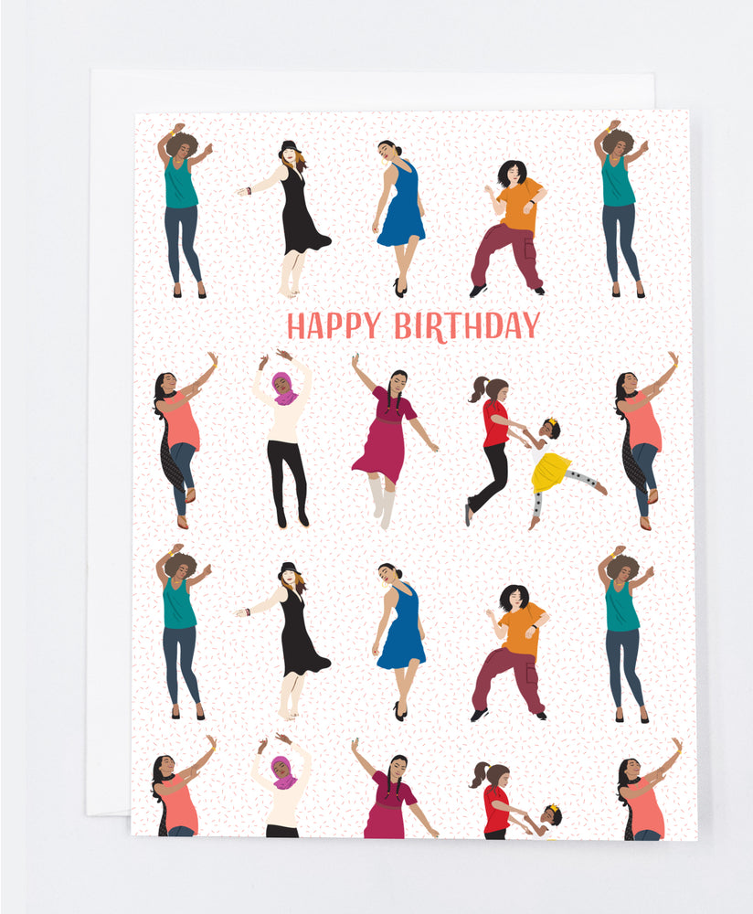 Cool Happy Birthday Women Dancing Greeting Card Me You Paper Personalised Birthday Cards Veneteletsinfo