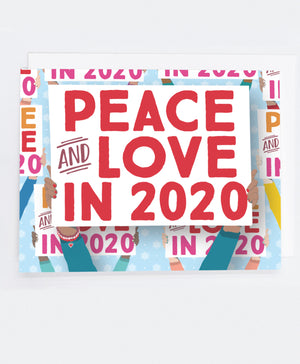 Holiday Peace 2020 Signs Greeting Cards (Pack)