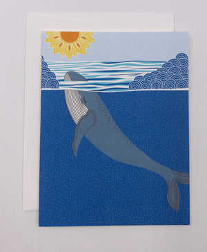 Whale Greeting Card (Single)