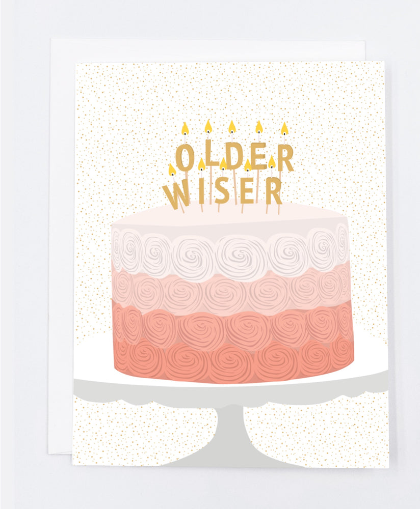 Older, Wiser Birthday Greeting Card (Single)