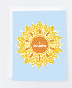 Hello Sunshine Greeting Card (Single)
