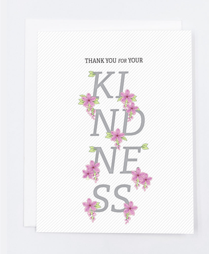 Kindness Thank You Greeting Card (Single)