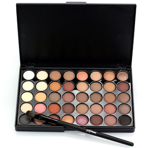Professional 40 colors Warm Color Pigments Make Up Eye Shadow Glitter Matte Waterproof Makeup