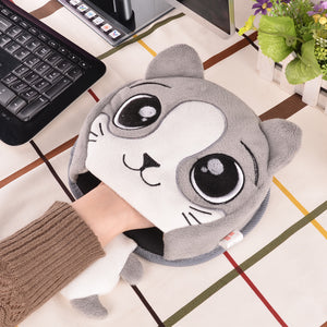 Mouse Pad Thick Cartoon Plush  Hand Warmer Heated Mouse Mat USB Port