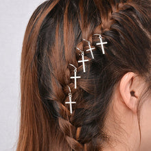 1 lot =5 piece Hair Jewelry silver  plated Retro punk lovely cross leaf  Headwear nice gift