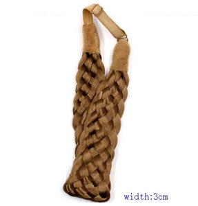 2.5cm wide  bohemian wigs braid thick wide headband popular
