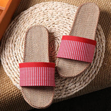 2018 Summer Linen Slippers Couples  Shoes Anti-skid slippers