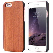 For iPhone 5 5S 6 6S 7 Retro Real Wooden Phone Case Capa For Apple iPhone 7 6 6S Plus X 10 SE Bamboo Cover