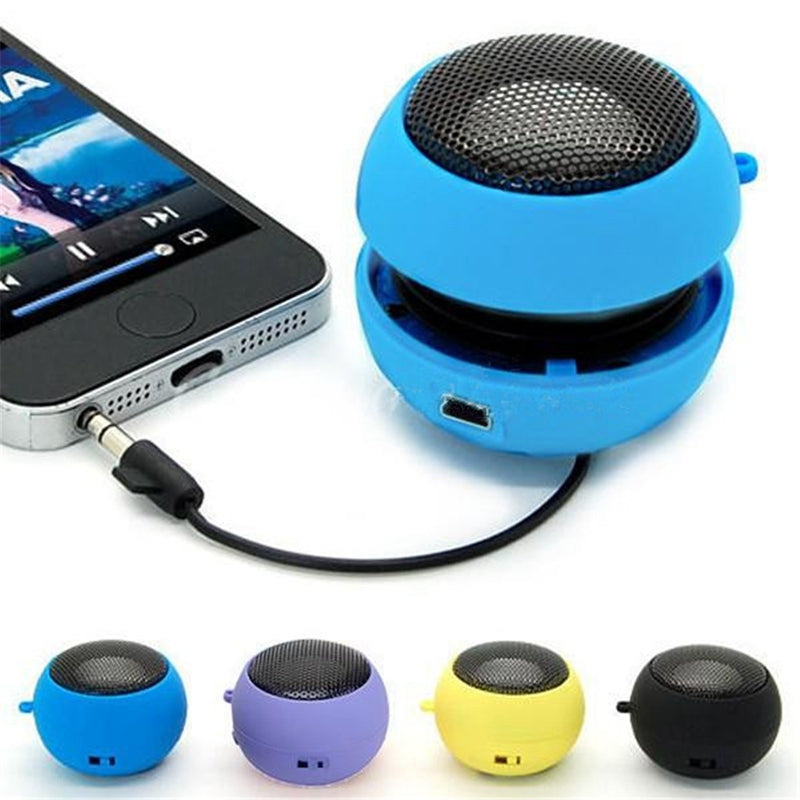 Portable Wired Subwoofer Speake r3.5mm Plug Mini Hamburger Computer Bass Speaker