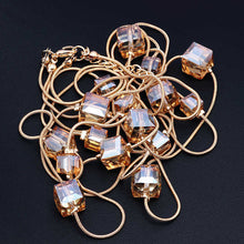 Crystal Bead Long Necklace Sweater Chain Necklaces & Pendants For Women