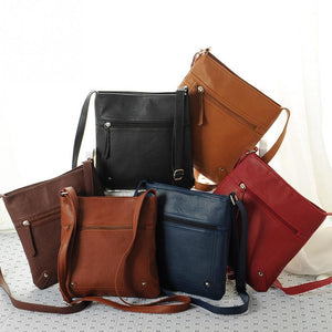New Messenger Bags Females Bucket Bag Leather Crossbody Shoulder Sac A Main