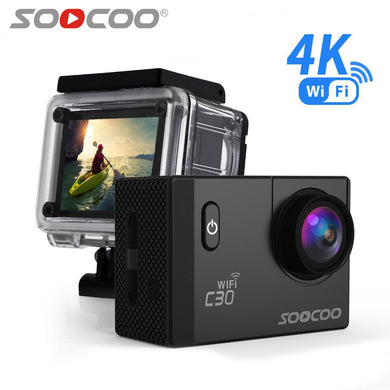 C30 Action 4K Sports Camera Wifi Built-in Gyro Adjustable Viewing angles(70-170 Degrees) 2.0 LCD