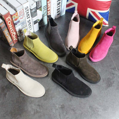 Chelsea Boots Female Casual Boots Fashion Preppy Style Women's Shoes