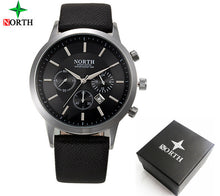 Watches NORTH Brand Luxury Casual Military Quartz Sports Wristwatch Leather Strap