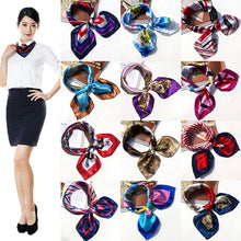 Style Hotel Waiter Flight Attendants Business Printing Square Imitate Silk