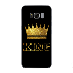 King Queen case For iPhone 5 5S SE 6 6S 7 X 8 Plus For Samsung Galaxy S5 S6 S7 Edge S8 Plus J3 J5 J7 A3 A5 2016 2017 Prime
