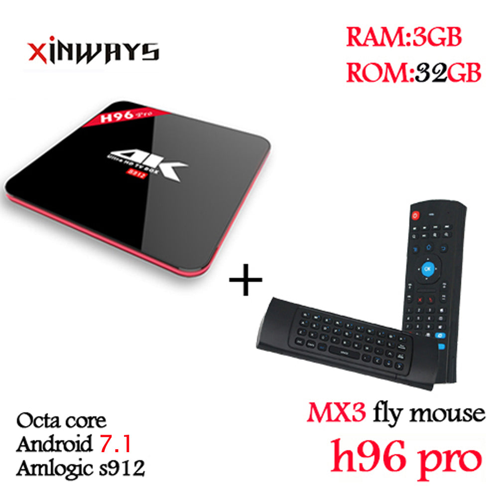 Best 3/32GB video player Octa Core Android 7.1 2.4G/5.8GHz AC Wifi HD2.0 4k 1080p HDR 100/1000M BT4.0 KODI17.4 android tv box