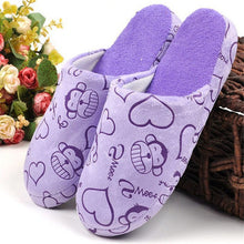 Cotton Cute Slippers Floor Indoor House Home Furry Slippers Women Shoes