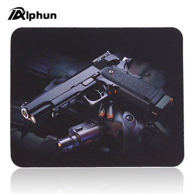 Best Price Gun Picture Anti-Slip Laptop PC gaming Mice Pad Mat Mousepad For Optical Laser Mouse