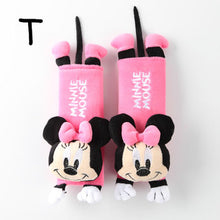 1 Pair cute Cartoon Car Sefety Seat Belt cover Child Seat belt Shoulder Pads Protection