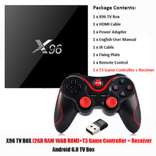 X96 Android 6.0 TV Box Amlogic S905X Max 2GB RAM 16GB ROM Quad Core WIFI HDMI 4K*2K HD Smart