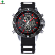 Male Sport Wristwatch 2017 Casual Silicone Strap LED Digital Analog
