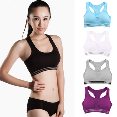 Quick Drying Cropped Push up Bras Fitness PaddedSleeveless Underwear