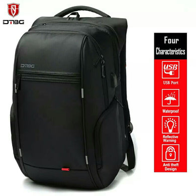 Leisure Bag External USB Charging Anti-theft Waterproof Traveling Backpack 15