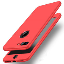 iPhone X 7 8 Plus 6S 6 5 5S SE Case Protect TPU Silicone Flexible Soft 360 Full Body Protective Case Cover