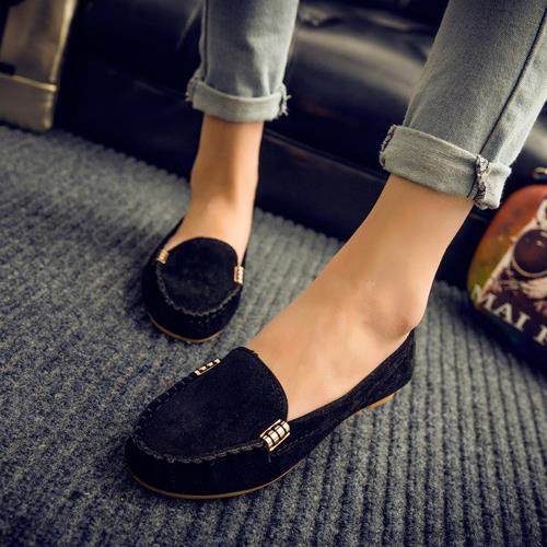 Casual Shoes Women Solid Slip-On Loafers Comfortable Moccasins