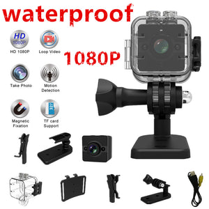 camera Waterproof degree wide-angle lens HD 1080P Wide Angle SQ 12 MINI