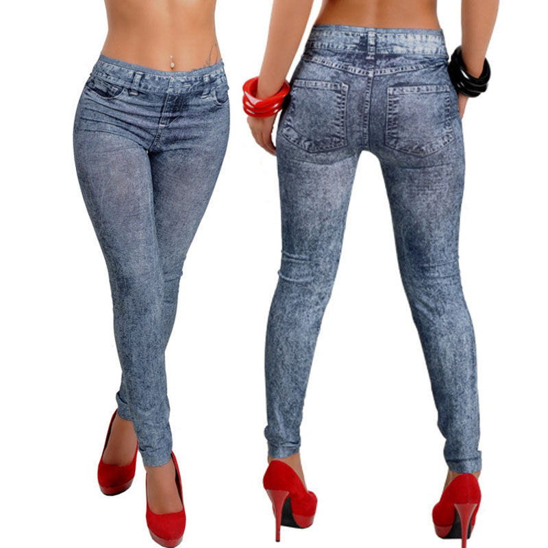 2018 Blue Jeans Skinny jeggings Stretchy Slim