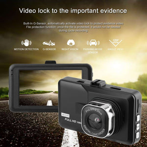 LCD Dash Camera Video Car DVR Recorder Full 1080P HD G-Sensor 32GB Motion
