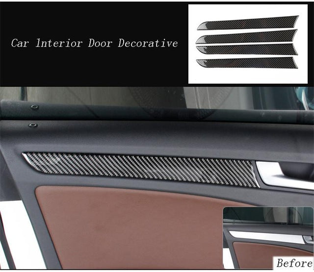 Carbon Fiber Interior Handle Covers Trim Door Bowl Stickers decorative