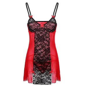 Women Sexy Lingerie Erotic Lace Underwear Sleepwear Bow Babydoll Nightwear