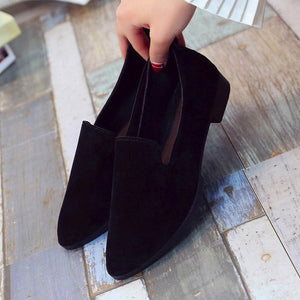 Sandals Casual Shoes Solid Fashion Loafer Female frosted face pointed plain