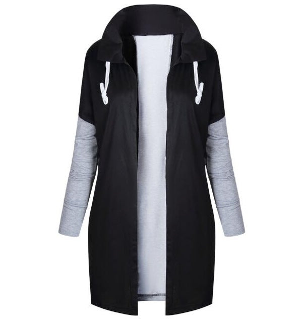 Causal 2018 Winter Autumn Overcoat Female Plus Big Large Size Hooded