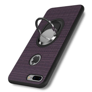 Magnetic Kickstand Case For iPhone 5s 5 SE 6s 6 Soft TPU Car Ring Cloth Back Cases For iPhone 7 6s 6