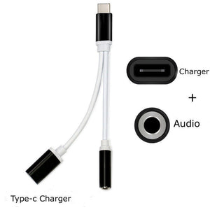 USB Type-C To 3.5mm Jack AUX Headphone Audio Splitter Converter Adapter Cable High Speed