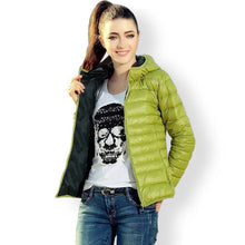Cotton-Pad Warm Slim Fit Jacket Coat Ladies Hooded Collar Long Sleeve
