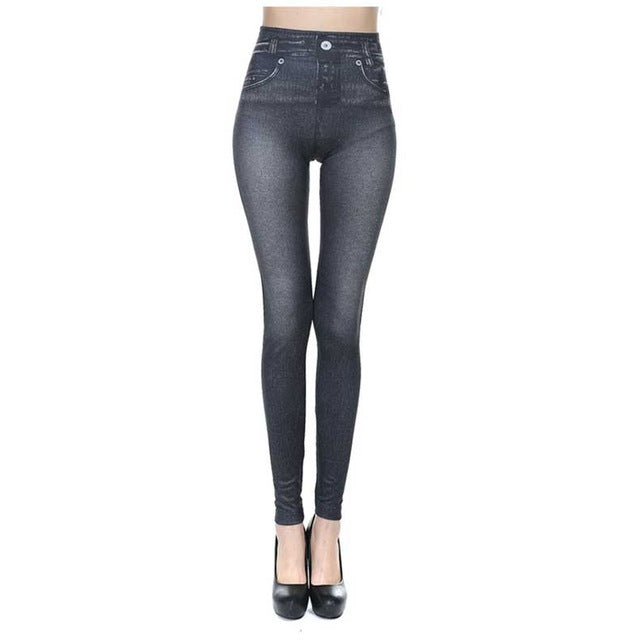 Ankle-Length Really Pocket Leggings Female Casual Mid Waist Straight Slim